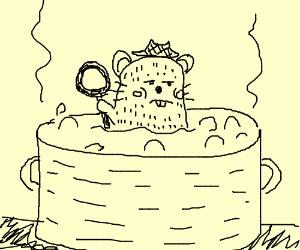 Hard boiled detective hamster