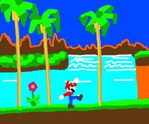 Mario in Green Hill Zone