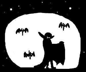 Vampire halloween silhouette