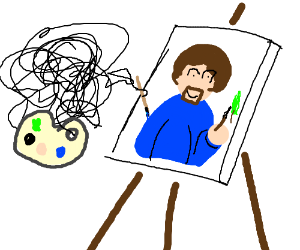 Artist Painting Scribbles