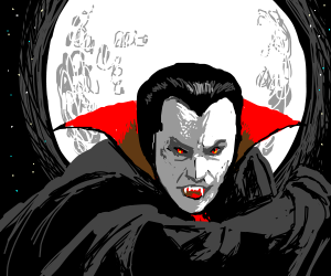 Count Dracula in the moonlight