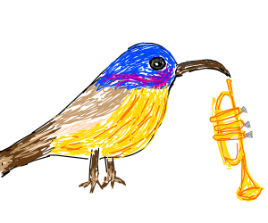 Cute Birdy and Trumpet