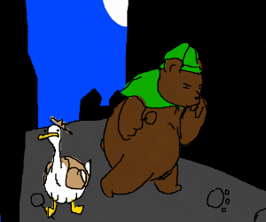Duck-tective and sherlock bear