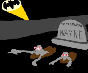 Batman, but his parents aren't dead now
