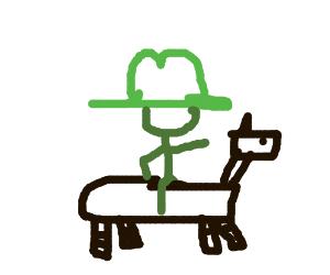 Napoleon on a robot horse