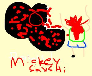 Demon Micky devours children.
