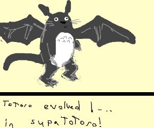Totoro evolves into a stronger Pokemon