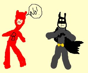 "Daredevil says ""No!"" to Batman"
