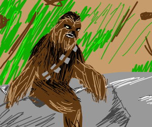 Bigfoot photos are fake, it's really Chewbacca