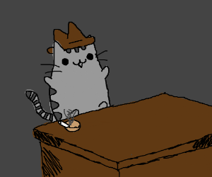Pusheen is The Godfather Kitty.