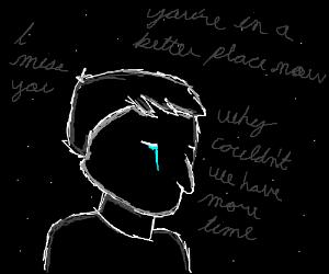 Draw something sad and tearjerking