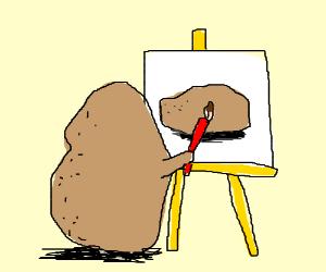 potatoe make his self portrait