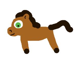 Cute Brown Pony