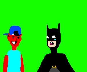 devil dude makes batman cri (eri time)