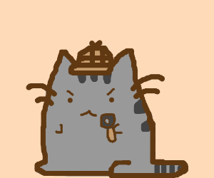 Pusheen the Cat as a gritty 40's detective