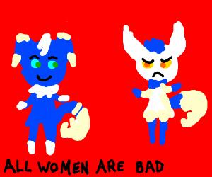 Male and female Pokemon