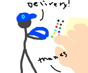 Drawception D is delivered to the next panel