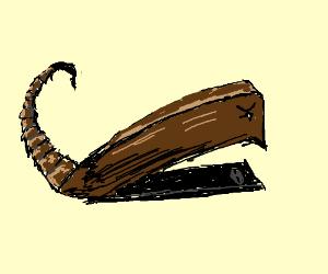 stapler with scorpion tail