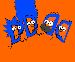 the simpsons made of drawception ds