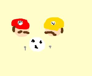 Mario & his impersonator play Techmo Soccer
