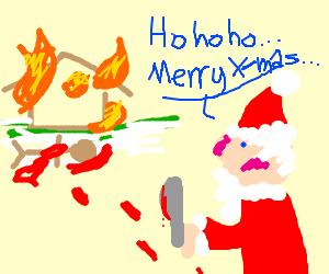 Santa arsens house after murder by butterknife