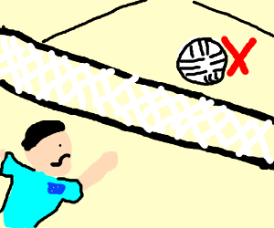 France volley ball - hit the X