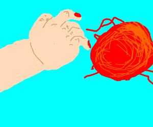 Touching yarn