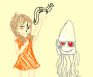 singing to a squid