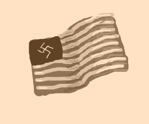 Nazi american flag