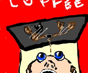 Looking into coffee vending machine from below