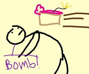 Man dodges landmine disguised as cake