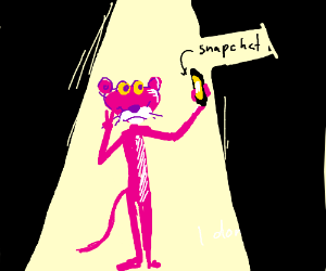 The pink panther sets the stage via snapchat