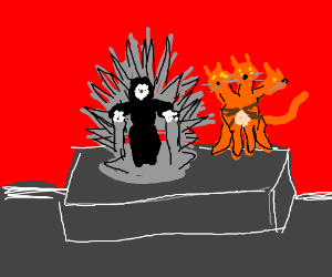 Dark Lord and his cat Foofykins