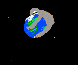 Giant sloth hugs the Earth