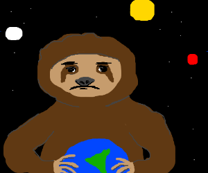 The great sloth in the sky chose not to eat us
