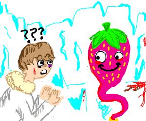 Luke Skywalker meets the Strawberry Genie