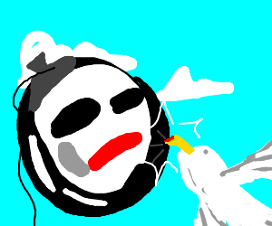 balloon mime and seagull