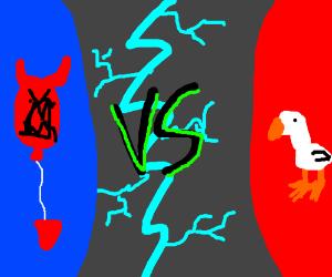 Seagull vs evil balloon monster - FIGHT!