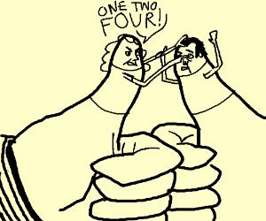 Violent thumb war