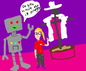 A costume shop for robots