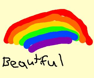 """An """"awesomly drawn rainbow"""""""