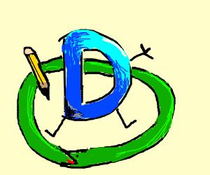 Drawception mascot inside snake forming circle