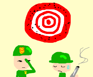 You have terrible aim, cadet.
