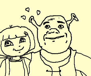 Dora and Shrek's first date