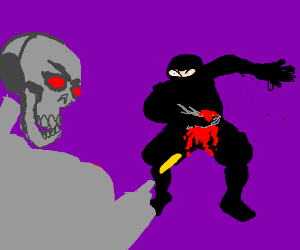 terminator finally kills ninja