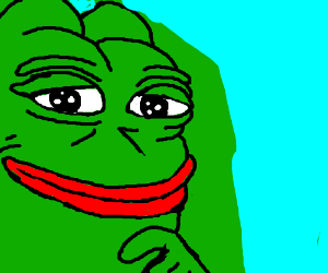 Contemplative Frog-Grinch is Contemplative
