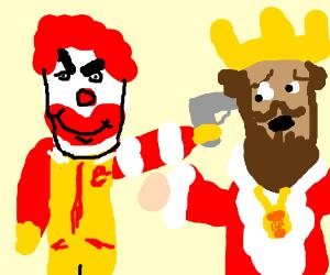 McDonalds Mascot Gets Revenge On Burger King