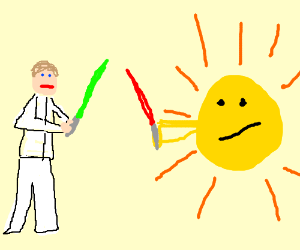 jedi decides to duel the sun