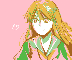 A pretty schoolgirl