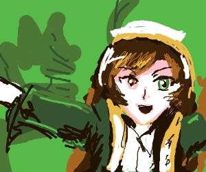 An anime girl